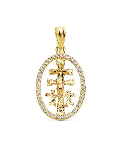 Cruz de caravaca en oro 18k - 16975
